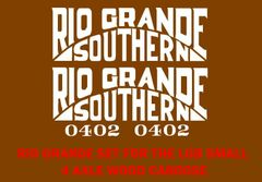 RIO GRANDE CABOOSE HO DECAL SET