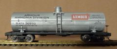 Armour Ammonia Tanker car HO decal set