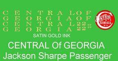 CENTRAL OF GEORGIA PASSENGER CAR. G-CAL DECAL SET. $$ SATIN GOLD INK