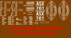 ASARCO REFINERS 40 FT BOXCAR G-CAL DECAL SET