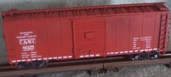 CHARLESTON & WESTERN CAROLINA STEEL SD BOXCAR HO DECAL SET