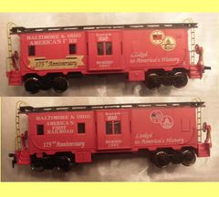 BALTIMORE AND OHIO 150 YEARS B.W. CABOOSE HO DECAL SET.