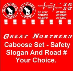 GREAT NORTHERN G-CAL DECAL SET.