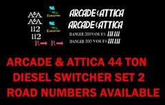 ARCADE AND ATTICA ORIGINAL TYPE GRAPHICS. G-CAL DECAL SET