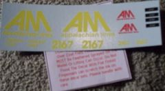 Allegheny Midland Diesel Ho Decal Set