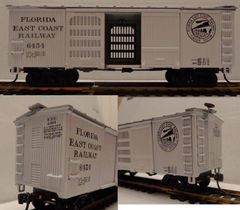 FEC WOOD VENTILATED 36 FT. BOXCAR MRC ORIGINAL ARTWORK. HO DECAL SET