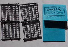 GRANDT 5124- HO SCALE FREIGHT CAR LADDERS. 20 PCS