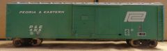 PENN CENTRAL/PEORIA AND EASTERN 50 FT BOXCAR HO SCALE DECAL SET