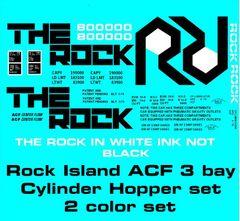 ROCK ISLAND 3 BAY CYLINDER HOPPER G-CAL DECAL SET.