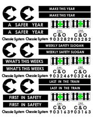 CHESSIE SYSTEM SAFETY CABOOSE G-CAL DECAL SET
