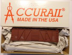 ACCURAIL 7098 40 FT 6 PANEL O.B. WOOD BOXCAR KIT WOOD ENDS-HO