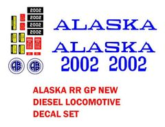 ALASKA RAIL ROAD DIESEL LOCOMTIVE G-CAL DECAL SET