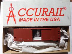ACCURAIL 3499 HO SCALE PS-1 S.D. BOXCAR, RED, DATA