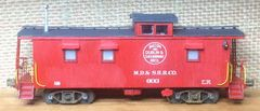 MACON, DUBLIN, AND SAVANNAH RAILROAD CABOOSE HO DECAL SET