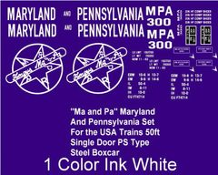 MA AND PA 1ST SERIES BOXCAR G-CAL DECAL SET