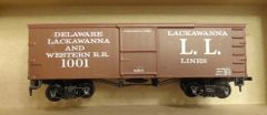 "EARLY 1910 ""LACKAWANNA LINES- L. L."" WOOD BOXCAR HO DECAL SET"