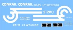 CONRAIL CABOOSE G-CAL DECAL SET.
