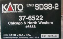 KATO HO CHICAGO NORTHWESTERN #6656 SD38-2 USED LOCOMOTIVE BOX