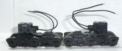 KATO HO EMD SD40/SD45 BLACK FLEXI-COIL LOW CYLINDER POWER TRUCKS