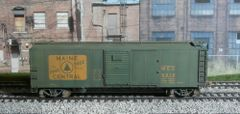RED CABOOSE #RR-37160-27 WEATHERED MAINE CENTRAL #5215 X-29 40' BOXCAR