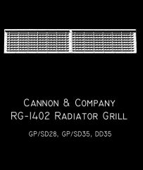 CANNON & CO #1402 EMD GP/SD35 GRILLES