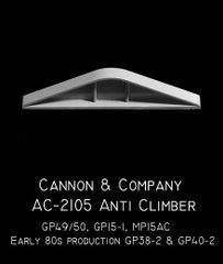 CANNON & CO #2105 EMD GP49/50, GP15, MP15AC, GP38-2 ANTICLIMBER