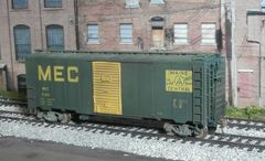 INTERMOUNTAIN #45818-02 WEATHERED MAINE CENTRAL #6198 AAR 40' BOXCAR