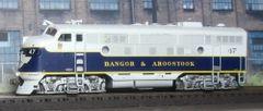 ATHEARN GENESIS BANGOR & AROOSTOOK #47 EMD F3A LOKSOUND/KEEP ALIVE/DCC