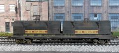 WALTHERS IOWA INTERSTATE CUSHIONED COIL CAR ASSEMBLED WEATHERED KD'S