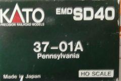KATO HO PRR WINDOW SD40 LOCO BOX