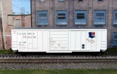EXACT-RAIL HO EE-1606-4 LOUISIANA MIDLAND #88061 EVANS 5277 SINGLE DOOR BOX CAR