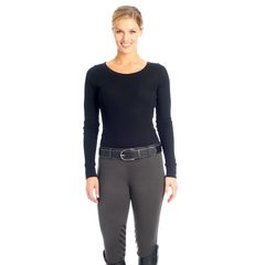 Ovation Winter Pull On Silicone Knee Patch Breech- Ladies