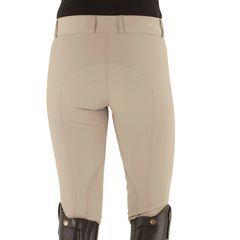 Ovation Celebrity EuroWeave™ DX Euro Seat Front Zip Knee Patch Breeches - Ladies