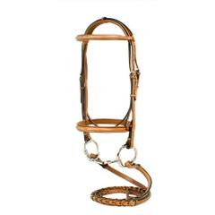 Silverleaf fancy raised padded bridle