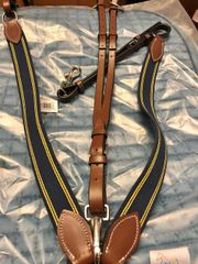 Henri de Rivel Elastic Breastplate Martingale with Running Attachment