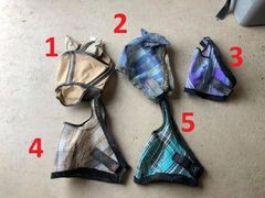 used fly masks