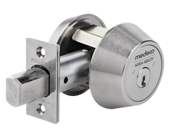 Medeco 11C6xx-26 Maxum Commercial Deadbolt High Security Restricted M3 Keyway Satin Chrome Finish