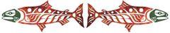 Green Head Wild Alaska Salmon Pair, Lasercut Appliqués