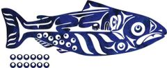 "Salmon Boy Laser Cut Applique, 20"" x 7"""