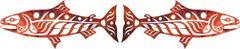 """Salmon Laser Cut Applique, Pair, Autumn, 18"""" x 7 1/2"""" each"""