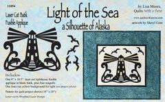 Light of the Sea Lighthouse Lasercut Applique with Dolphins and Seagulls