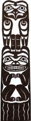 Eagle Bear Totem Laser Cut Appliqué