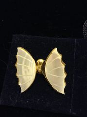 Faux Mother of Pearl Butterfly Brooch w/out antenna