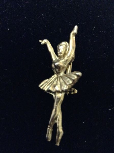 Goldtone Dancer Brooch
