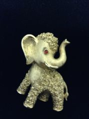 Vintage Trifari Elephant Goldtone Brooch