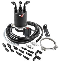 RX DUAL VALVE CATCH CAN PCV Evacuation System Universal Turbo Supercharger Kit
