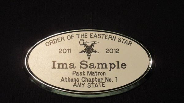 LARGE OVAL ENGRAVED NAME BADGE