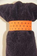 Oranga with Blacka Polka dots