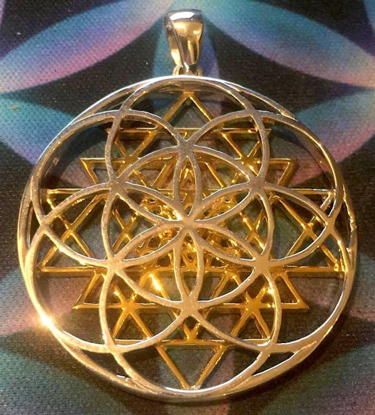 Seed of life sri yantra pendant lovelightproductions seed of life sri yantra pendant aloadofball Image collections