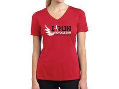 Women's V-Neck iRun Logo Tee